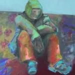 Abgeschieden | Acryl auf Leinwand | 2013 | 100 x 100 cm