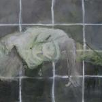 Am Boden | Acryl auf Leinwand | 2009 | 50  x 60 cm