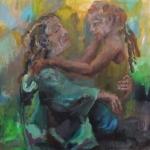 Annaeherung | Acryl auf Leinwand | 2011 | 110 x 110 cm