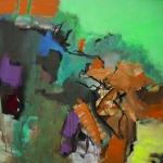 Colorado | Mischtechnik auf Leinwand | 2008 | 100 x 100 cm