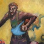 Der Laeufer | Acryl auf Leinwand | 2011 | 140 x 70 cm
