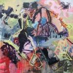 Der Schrill | Mischtechnik auf Leinwand | 2008 | 200 x 200 cm