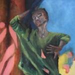 Die Intensitaet eines Momentes | Acryl auf Leinwand | 2011 | 140 x 70 cm