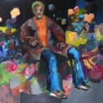 Eigenwelt 01 | Acryl auf Leinwand | 2014 | 160  x 160 cm