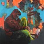 Eigenwelt 03 | Acryl auf Leinwand | 2014 | 160  x 160 cm
