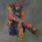 Einsamkeit | Acryl auf Leinwand | 2013 | 100 x 100 cm