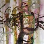 (Ent)Fesselung | Acryl auf Leinwand | 2010 | 120 x 120 cm