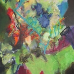 Farbgewitter   Mischtechnik auf Leinwand   2013   180 x 100 cm