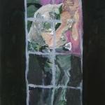 Gefangen | Acryl auf Leinwand | 2009 | 60  x 50 cm