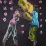 Geschwisterliebe | Acryl auf Leinwand | 2011 | 150 x 130 cmm