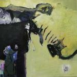 Gespraeche | Mischtechnik auf Leinwand | 2008 | 100 x 100 cm