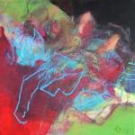 Im Zentrum | Mischtechnik auf Leinwand | 2013 | 30x30 cm