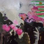 Magnolienbluete | Mischtechnik auf Leinwand | 2008 | 100 x 100 cm