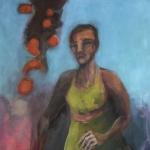 Mein Weg | Acryl auf Leinwand | 2011 | 140 x 70 cm