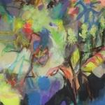 Sommerideen   Mischtechnik auf Leinwand   2013    180 x 110 cm