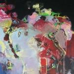 Verstrickungen | Mischtechnik auf Leinwand | 2008 | 200 x 200 cm