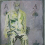 Wartend II | Acryl auf Leinwand | 2009 | 80  x 60 cm