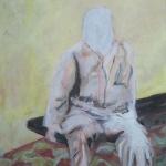Wartend III | Acryl auf Leinwand | 2009 | 80  x 60 cm
