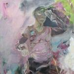 Wo stehe ich | Acryl auf Leinwand | 2009 | 160 x 100 cm