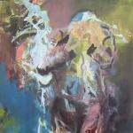 Aeußere Einfluesse | Acryl auf Leinwand | 2009 | 160 x 100 cm