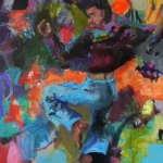 Eigenwelt 05 | Acryl auf Leinwand | 2015 | 160  x 140 cm