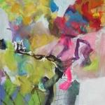 Ein Tag im Maerz   Mischtechnik auf Leinwand   2013   100 x 100 cm