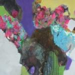 Wuensche   Mischtechnik auf Leinwand   2013   100 x 100 cm