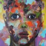 AN-BLICK 04 |  Acryl auf Leinwand | 2015 | 80 x 80 cm | verkauft