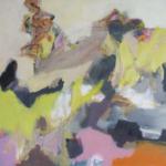 Fruehlingsflausen    Acryl auf Leinwand   2017   80 x 80 cm